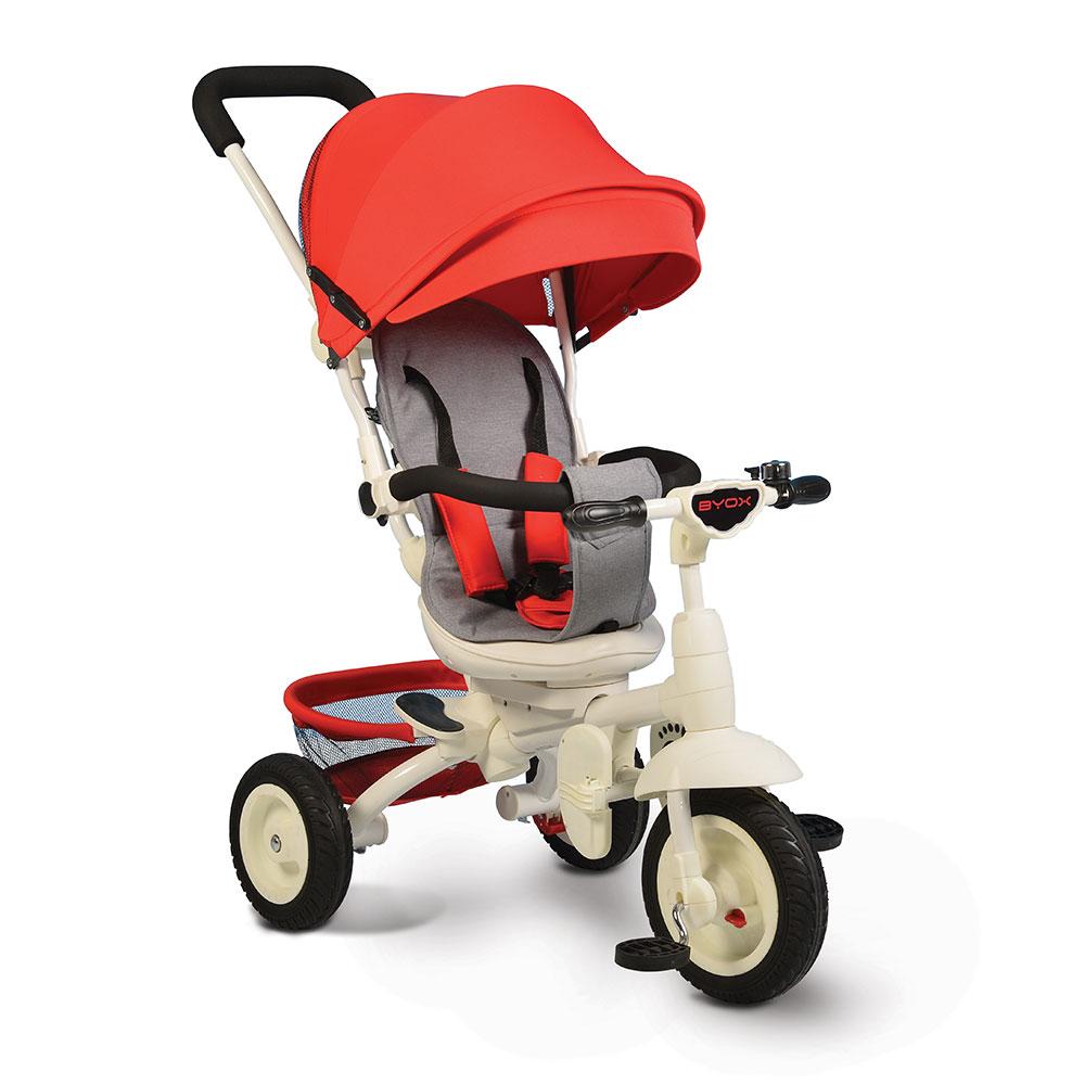 Tricicleta Cu Sezut Reversibil Si Mufa Mp3 Queen Red