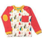 Bluza din bumbac organic Little Green Radicals Red Bear Necessities 3-4 ani
