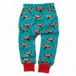 Pantaloni savari din bumbac organic Little Green Radicals Brushed Phoenix 6-9 luni