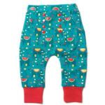 Pantaloni Salvari din bumbac organic Little Green Radicals Jungle Elephant 3-4 ani