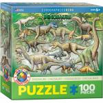 Puzzle 100 piese Dinosaurs