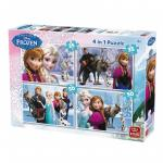 Puzzle 4 in 1 Frozen 12,16,20,24 piese