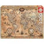 Puzzle Antique World Map 1000 Piese
