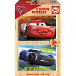 Puzzle Cars 3 2 x 25 Piese