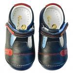 Pantofi Rose et Chocolat Navy T-strap Sandal 21