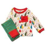 Set bluzita si pantalon din bumbac organic Little Green Radicals The Bear Necessities 2-3 ani