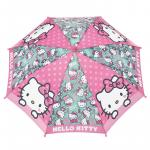 Umbrela manuala baston Hello Kitty