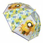 Umbrela manuala transparenta copii Minions