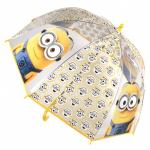 Umbrela transparenta copii Minions emoticon