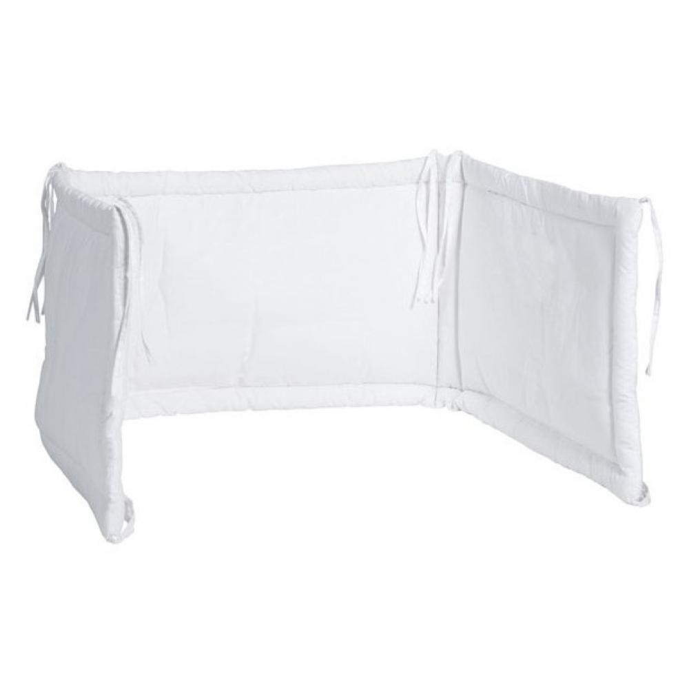 Aparatoare pat bebelusi Jollein 40x180 cm alb