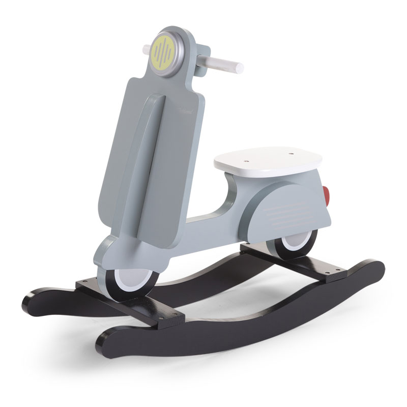 Balansoar din lemn tip scooter Mint Blue