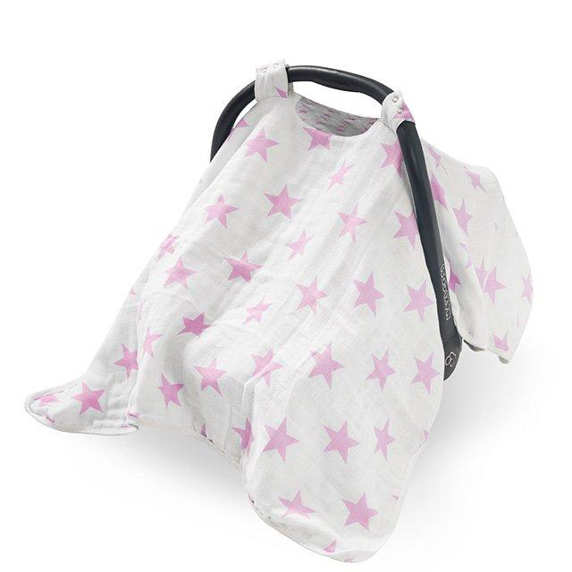 Baldachin pentru scoica Jollein Little star roz