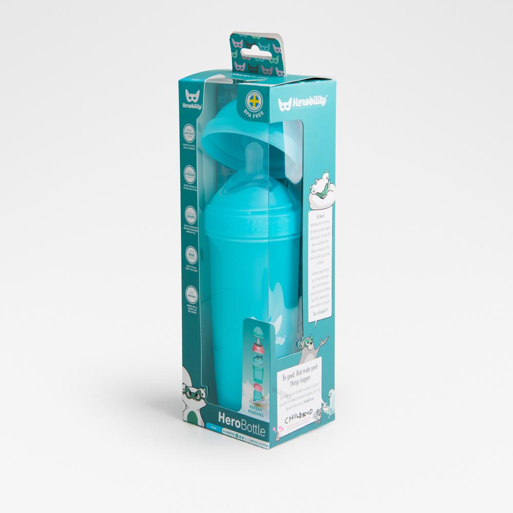 Biberon anticolici HeroBottle 340 ml bleu