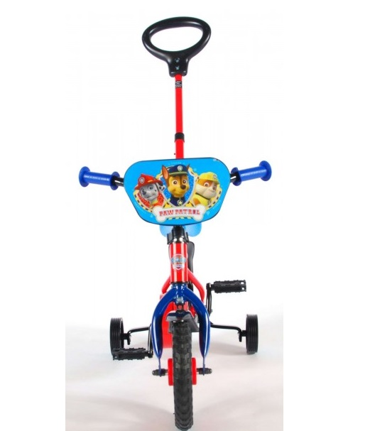 Bicicleta copii Volare Paw Patrol cu roti ajutatoare si maner parental 10 inch