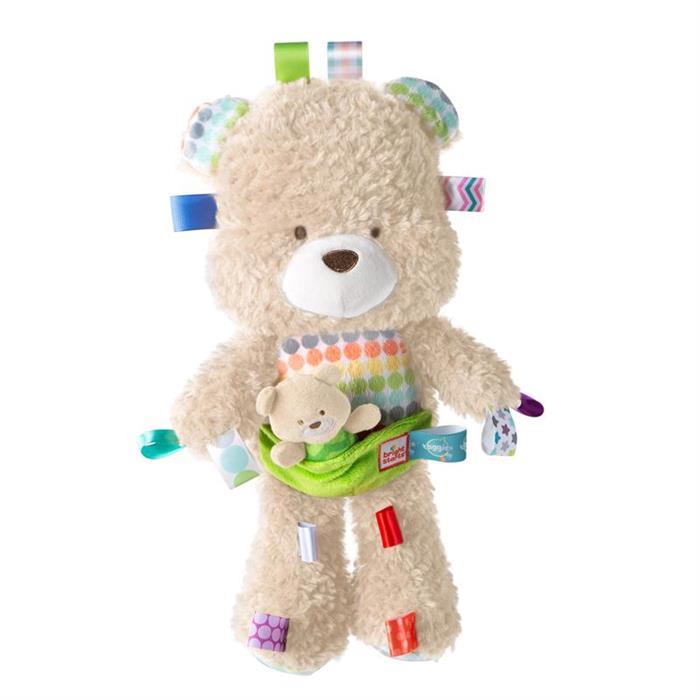 Bright Starts 11075- Jucarie de plus Ursuletul cu puiut Snuggles Bear