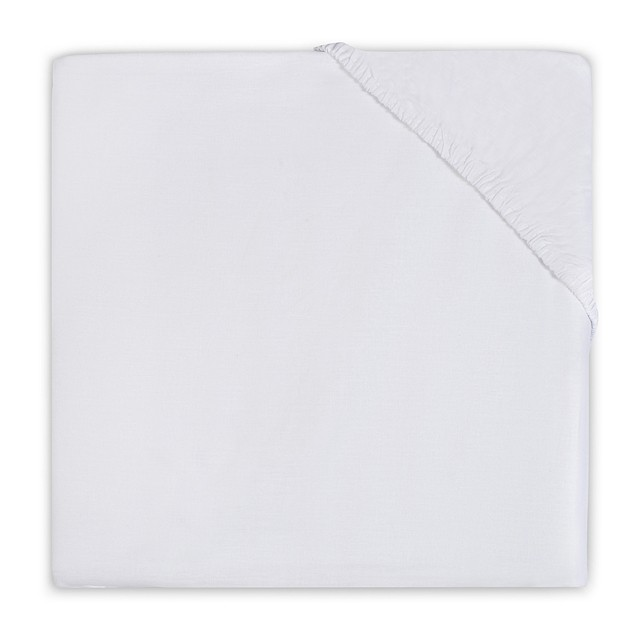 Cearsaf alb pentru pat bebe 70x140 cm Jollein