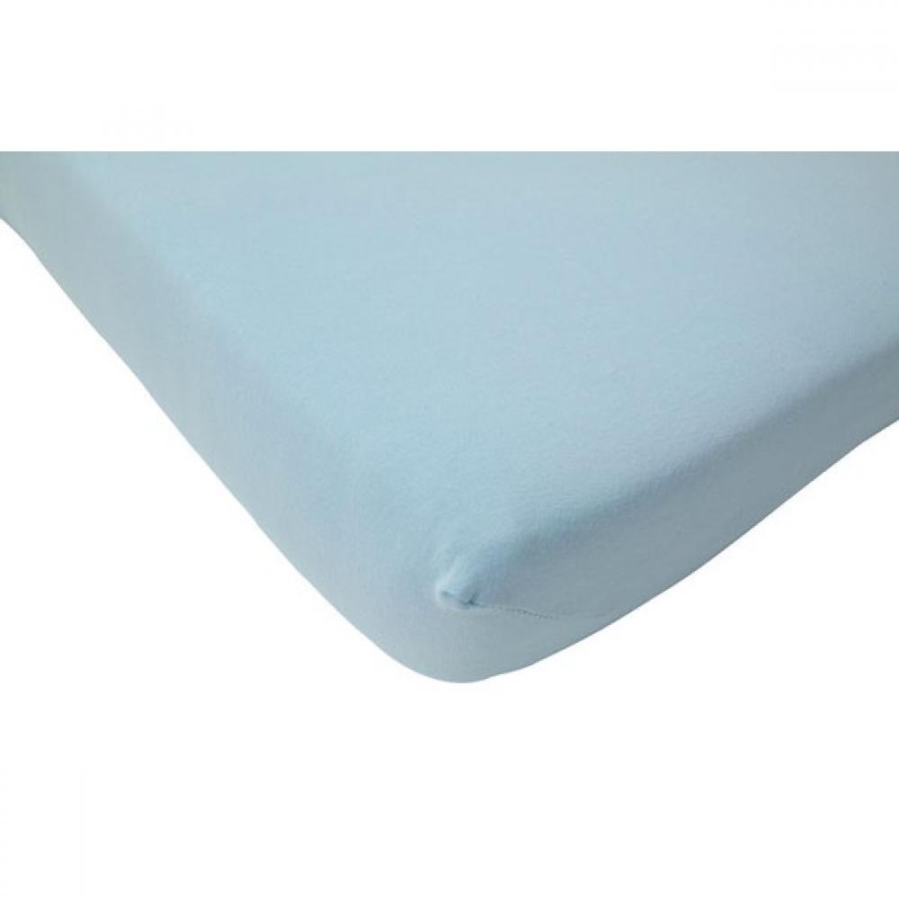Cearsaf albastru deschis pentru pat bebe 70x140 cm Jollein
