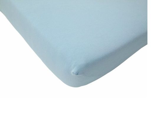 Cearsaf albastru pentru pat bebe 75 x 150 cm Jollein
