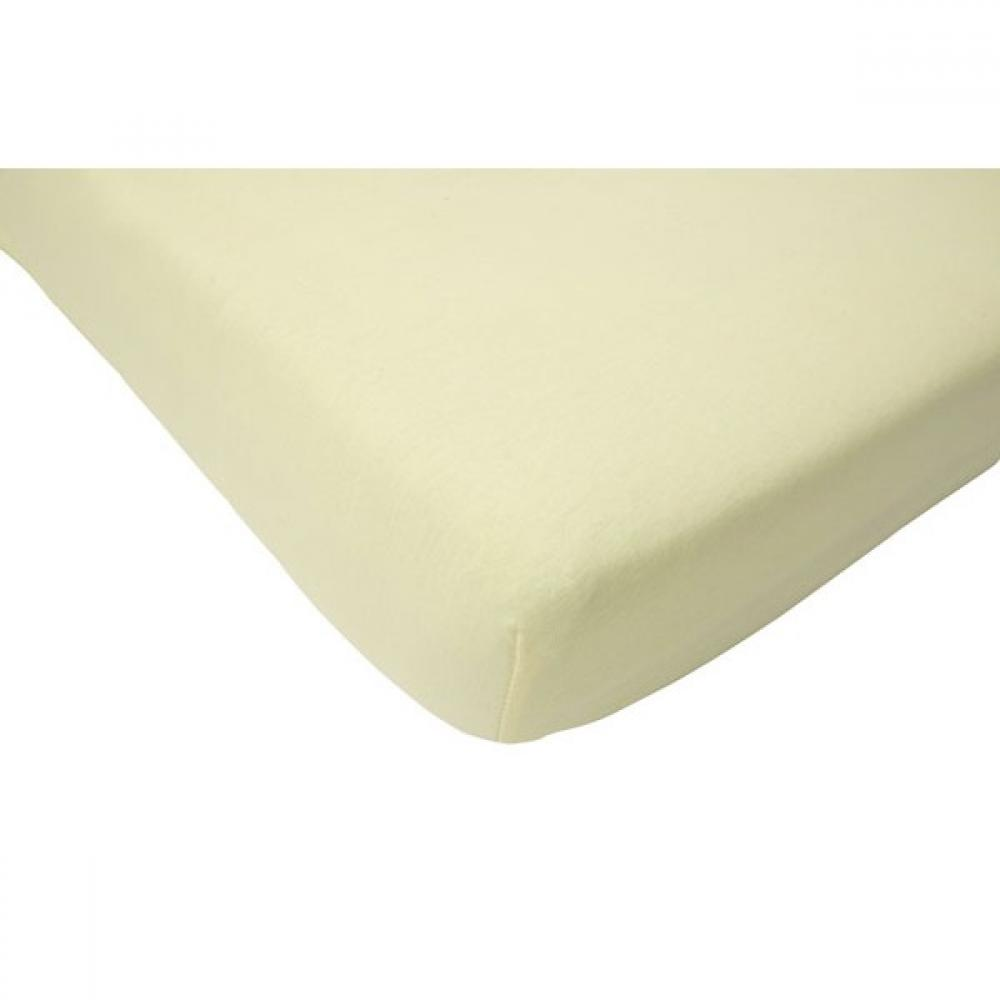 Cearsaf crem pentru pat bebe 60x120 cm Jollein