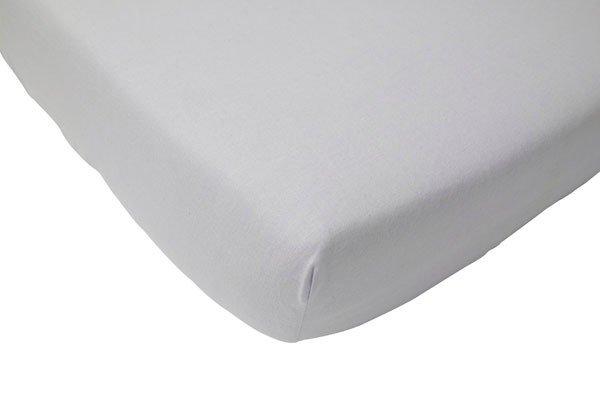Cearsaf gri pentru pat bebe 70x140 cm Jollein