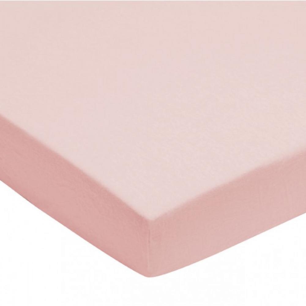 Cearsaf roz pentru pat bebe 60x120 cm Jollein