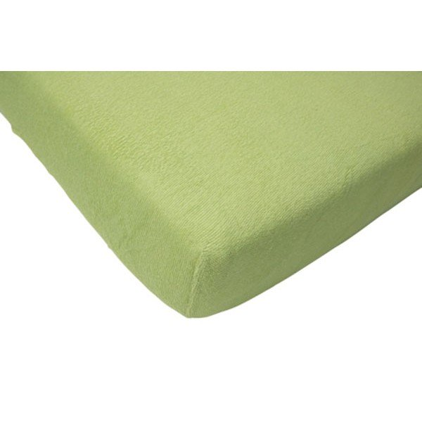 Cearsaf verde pentru pat bebe 70x140 cm Jollein