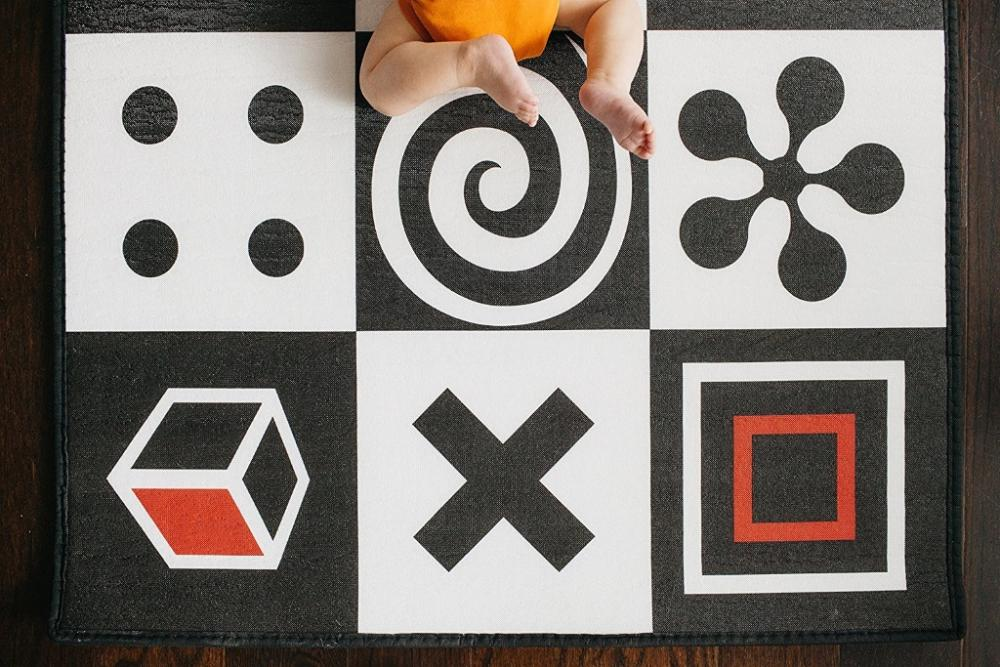 Covoras de Joaca pentru Copii Prince Lionheart Geometric Farm imagine
