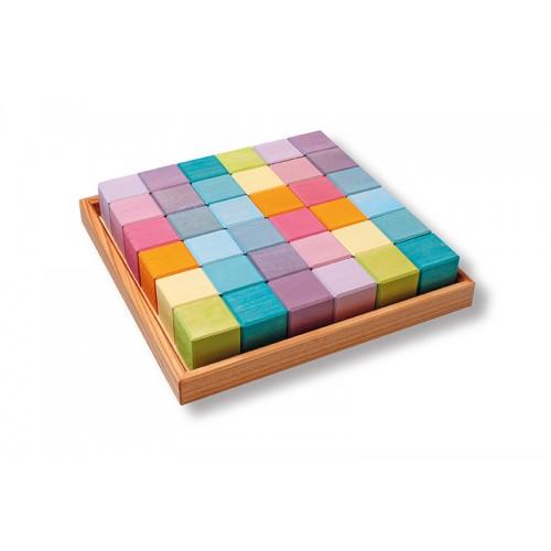 Cuburi Mozaic nuante pastel mediu