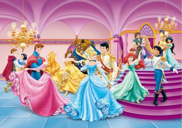 Fototapet Disney Printese Si Printi La Bal 255 X 180 Cm
