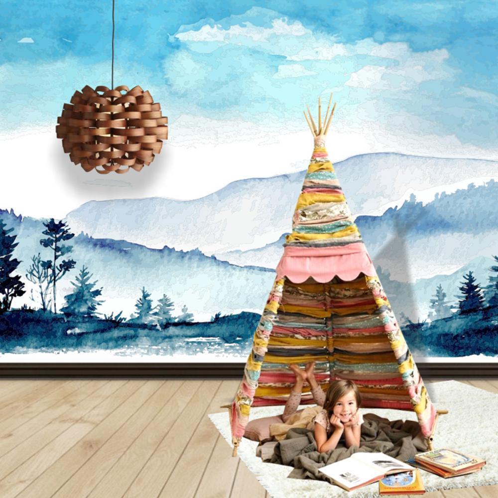 Fototapet Watercolor Panorama 240 x 170 cm