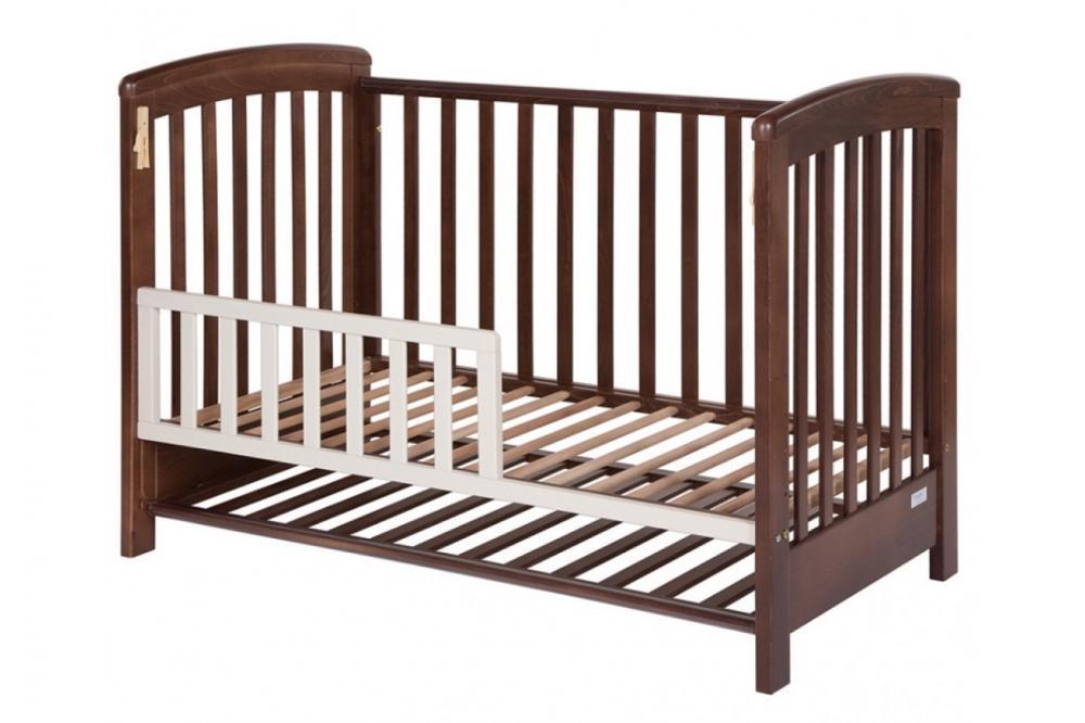 Gard de protectie walnut pentru patut lemn copii Treppy