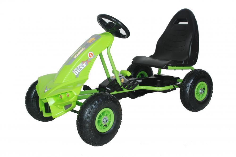 Kart cu pedale Go Kart The Best Green imagine