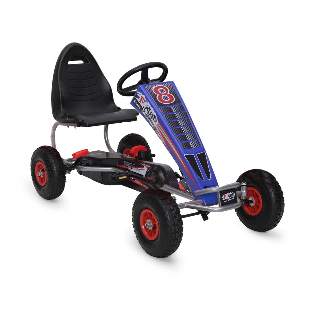 Kart cu pedale pentru copii Full Ahead Blue din categoria La Plimbare de la Byox
