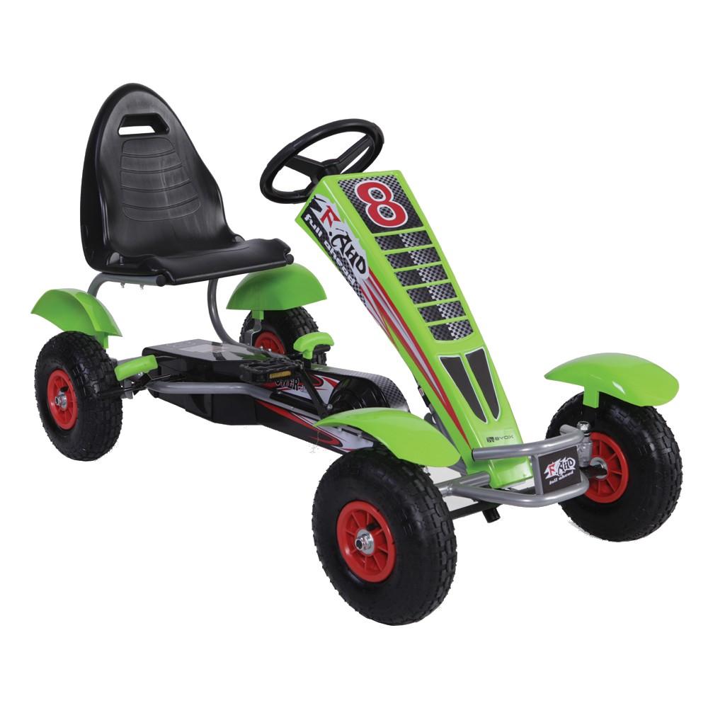 Kart cu pedale pentru copii Full Ahead Green din categoria La Plimbare de la Byox