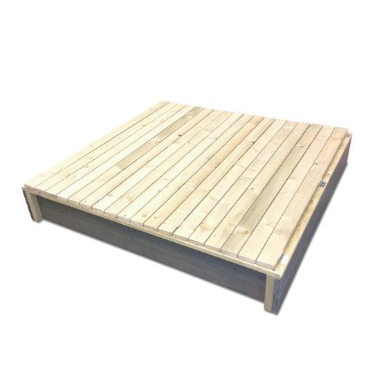Nisipar cu capac si bancute lemn EXIT Aksent XL