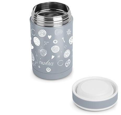 Termos inox mancare solida 500 ml Nuvita 1472 grey