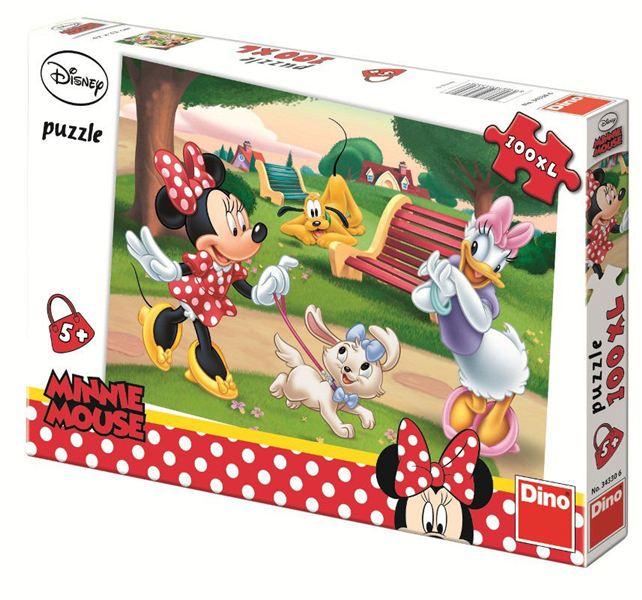 Puzzle - Minnie la plimbare (100 piese XL)