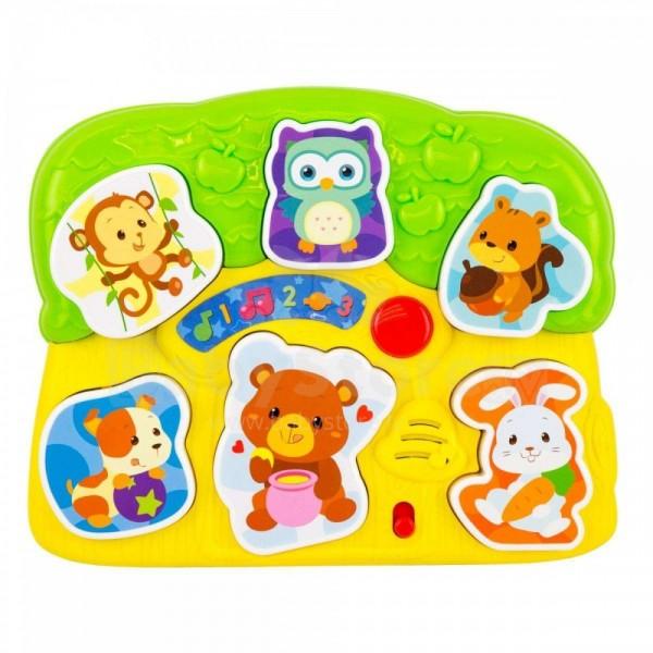 Puzzle animale pentru copii cu sunete si lumini Winfun