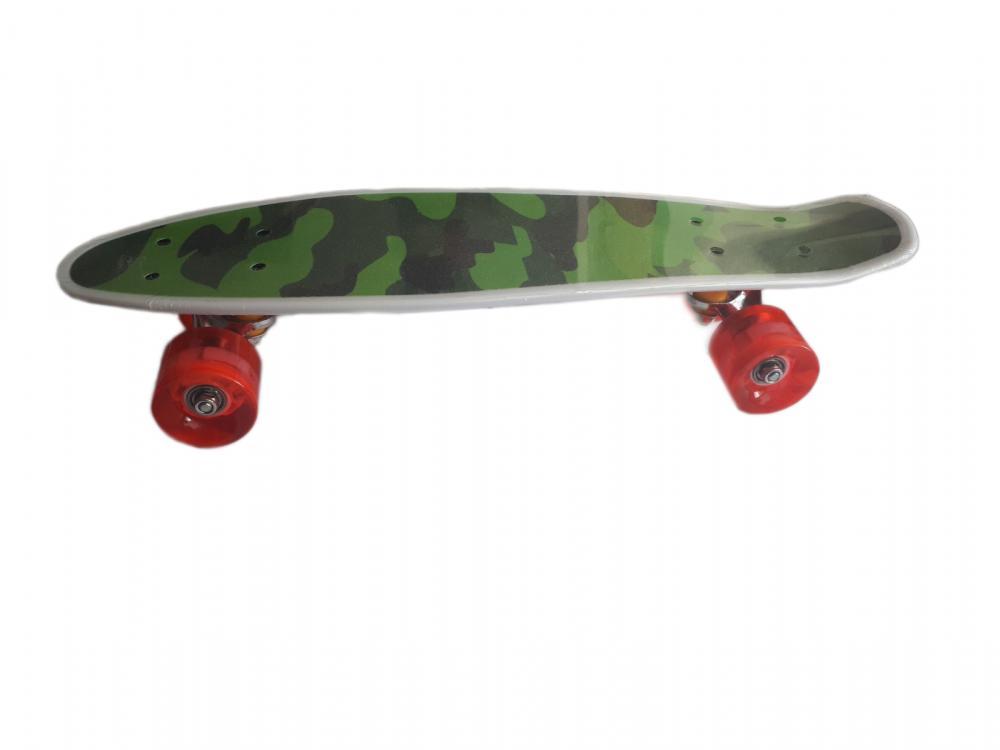 Skateboard cu led pentru copii 56 cm 50 kg Globo imagine