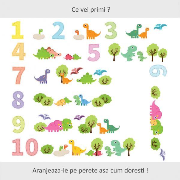 Sticker decorativ Lumea Dinozaurilor 97 x 170 cm imagine