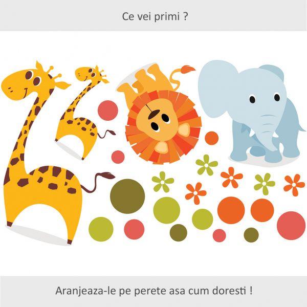 Sticker decorativ Mica Jungla 120 x 73 cm