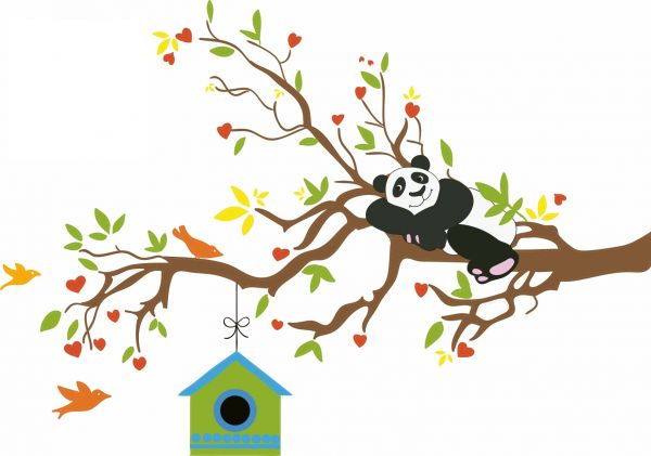 Sticker decorativ Panda