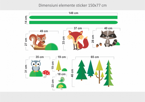 Sticker decorativ Veselia animalutelor