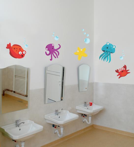 Sticker decorativ Viata marina 131 x 70 cm