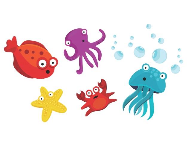 Sticker decorativ Viata marina
