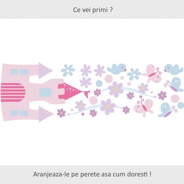 Sticker decorativ Visul Printesei 119 x 39 cm imagine