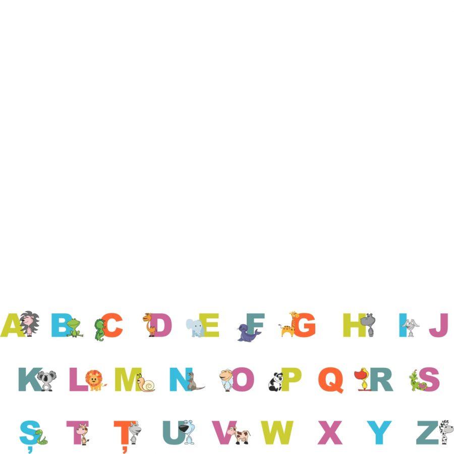 Sticker decorativ alfabet si cifre