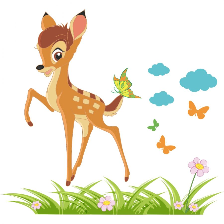 Sticker decorativ Bambi 88 x 80 cm - Mic