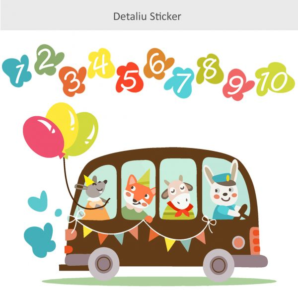 Sticker decorativ Caravana Numerelor
