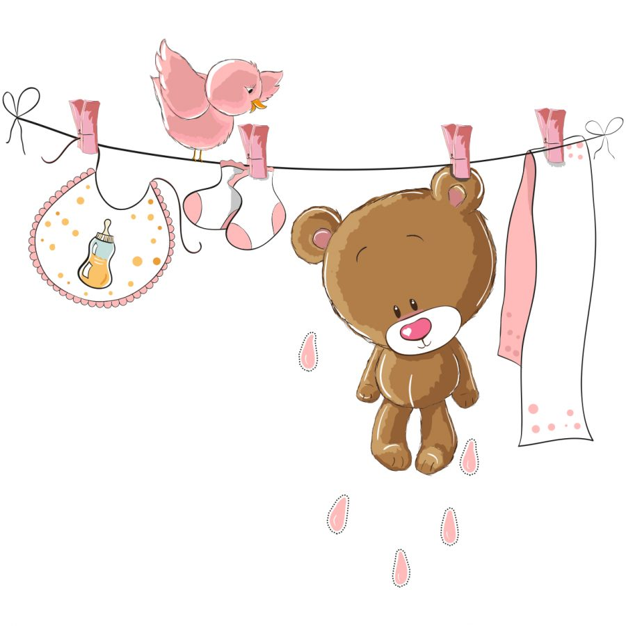 Sticker decorativ Pink Teddy